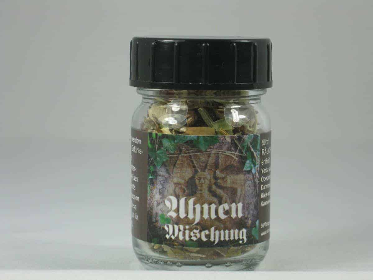 Ahnen Raeuchermischung 50ml Glas