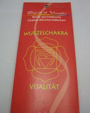 Ayuverdische Räucherstäbchen Wurzelchakra Muladhara