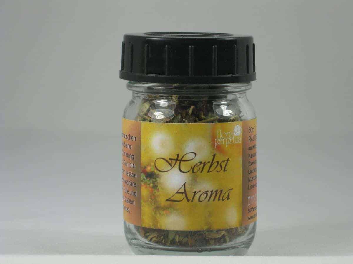 Herbst Aroma Raeuchermischung 50ml Glas